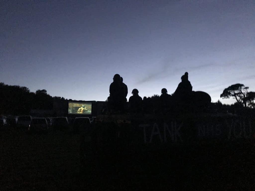 drive in cinema at Scorrier