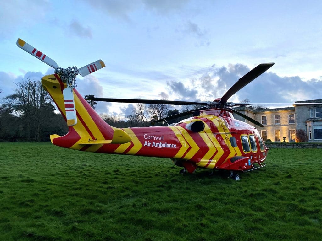 cornwall conference venue hosts air ambulance