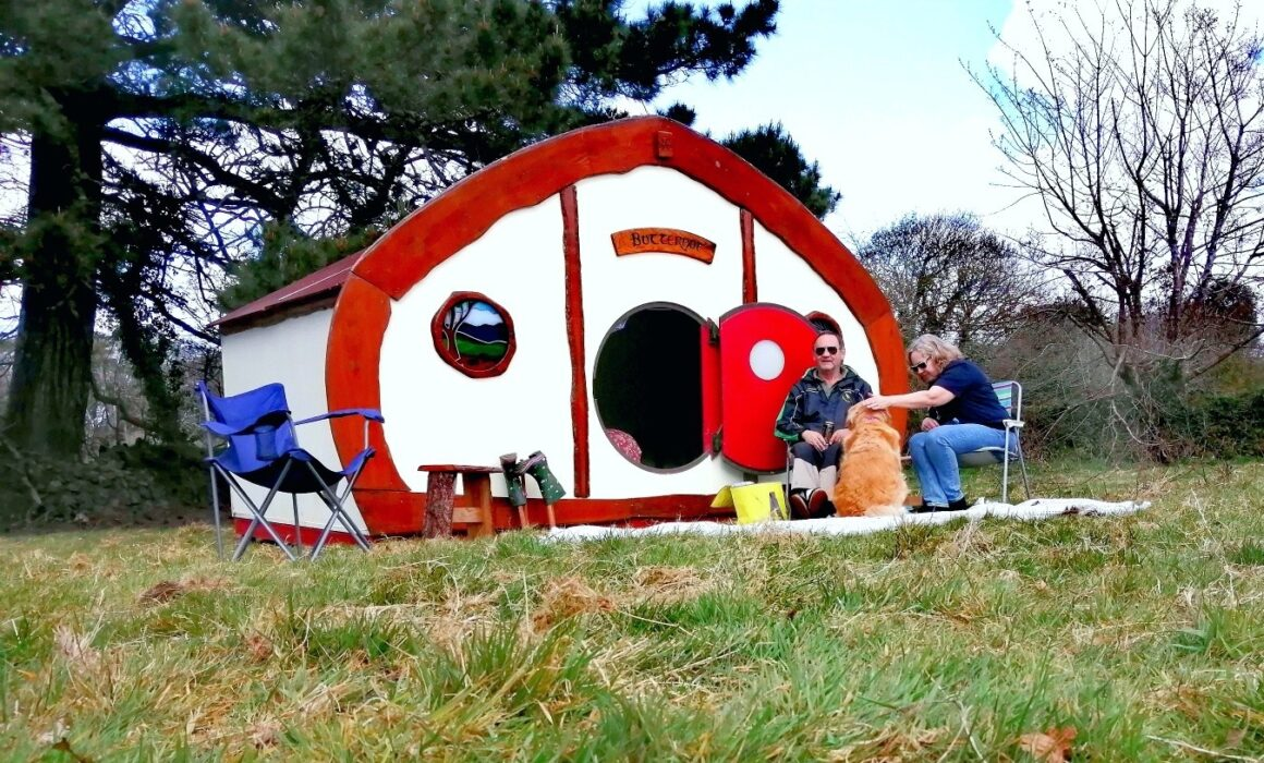 glamping huts at Scorrier House